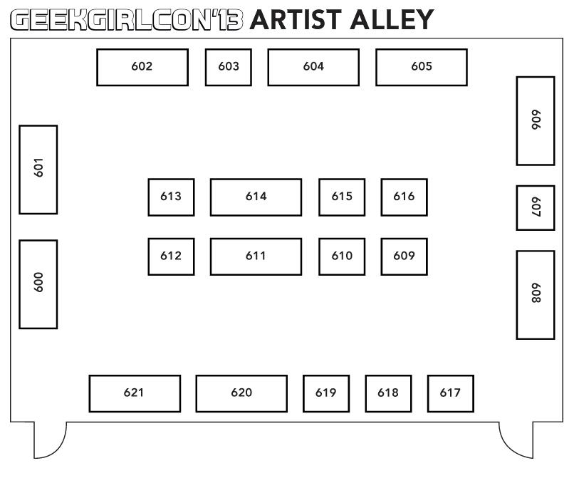 Geek Girl Con 2013 Artist Alley
