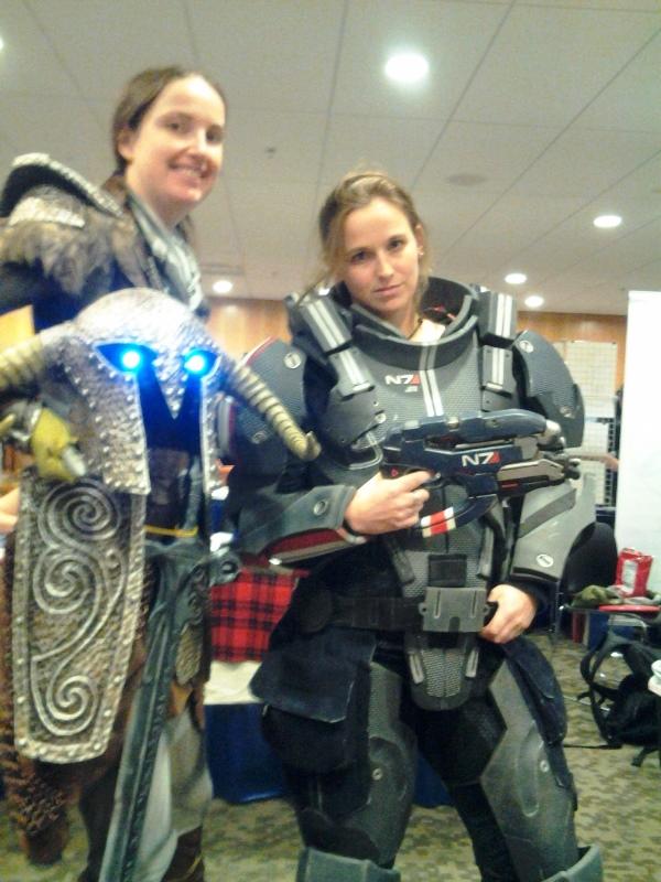 Ladies in armour.