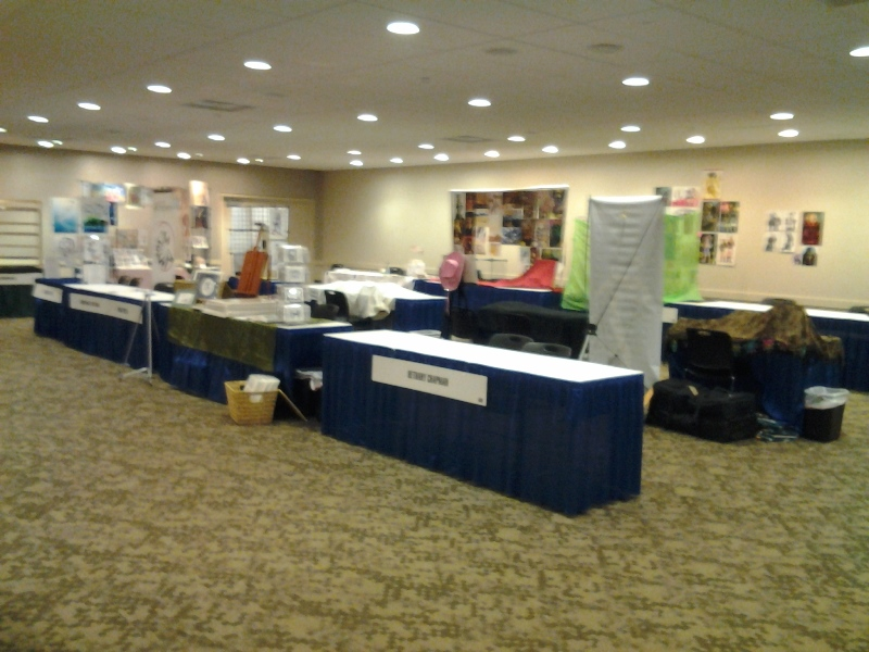 Artist Alley after closing.