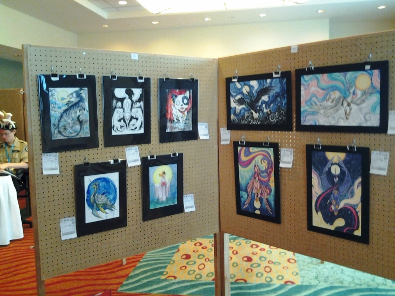 My art show panels.