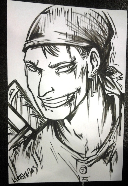 Bloody Zoro for Xib because I can.