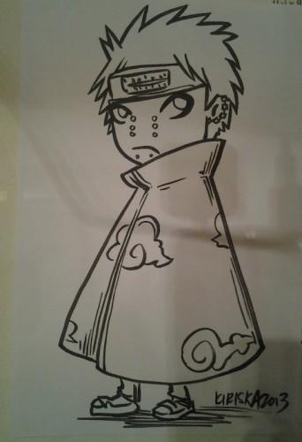Ink sketch card