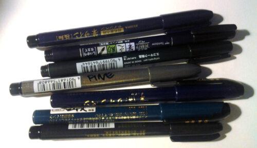 Brush pen showdown time.