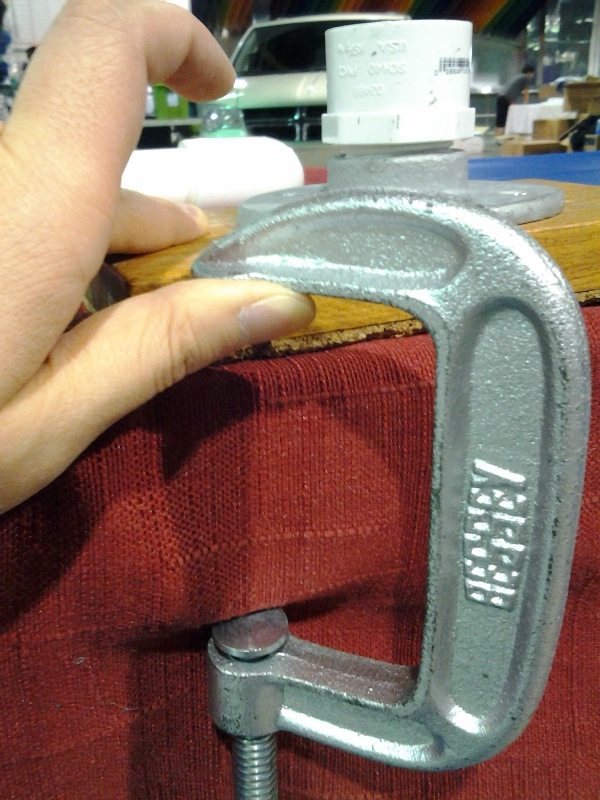 """3"""" clamp! Nearly 3"""" thick table! Ugh!"""