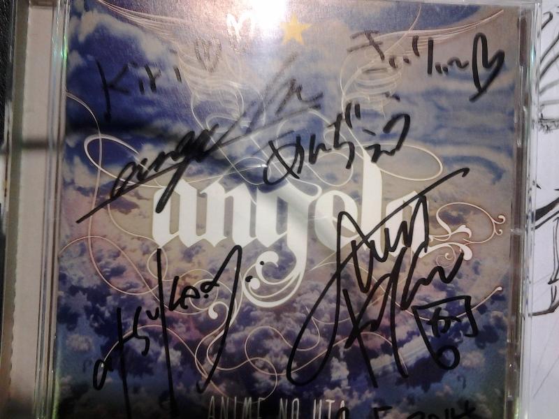 Signed angela CD. ;3;