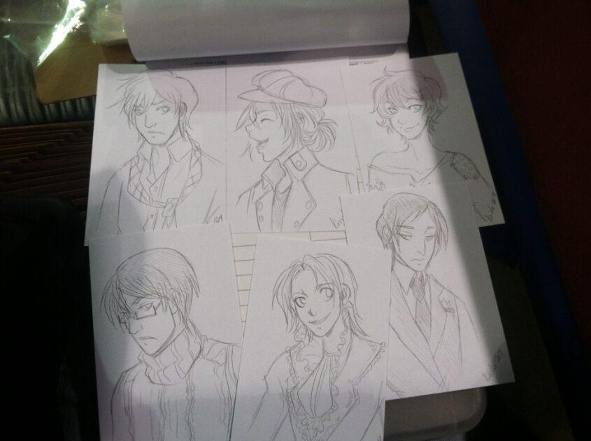 The batch of six OC commissions I did Friday.