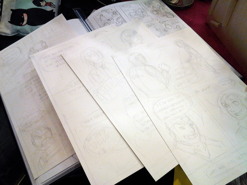 Four pages penciled.