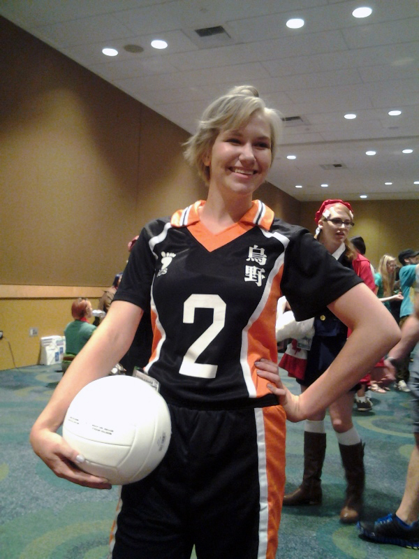 Sugawara! The last of the volleyballs at the con.