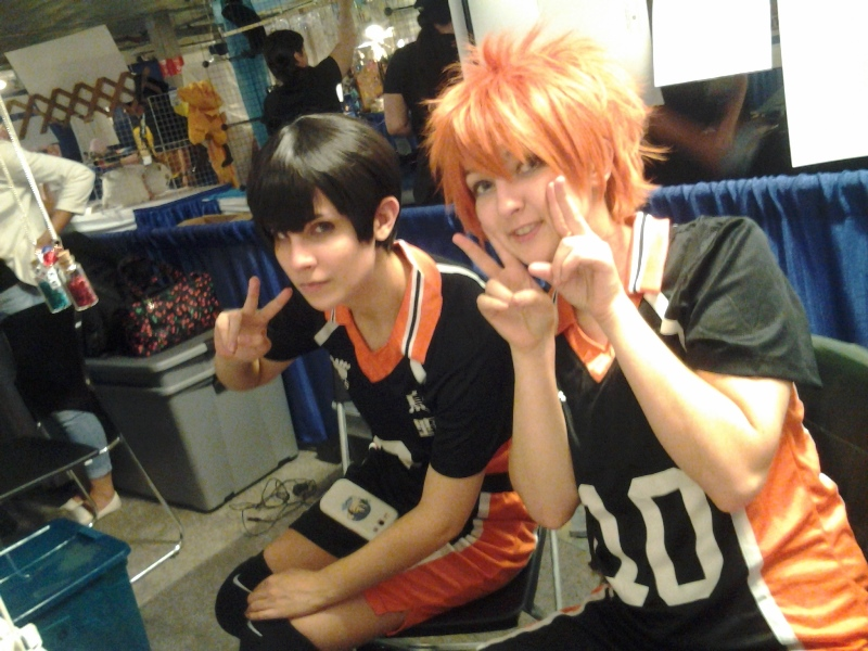 The artists across the aisle from us were a cute Kageyama and Hinata on Friday!