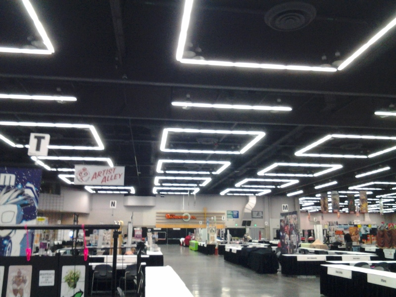 RCCC's Exhibit's Hall. I thought it was weird that the Oregon Convention Center had the same ceiling lights as the Washington State Convention Center.