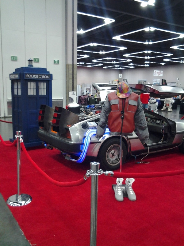 The TARDIS at the con...