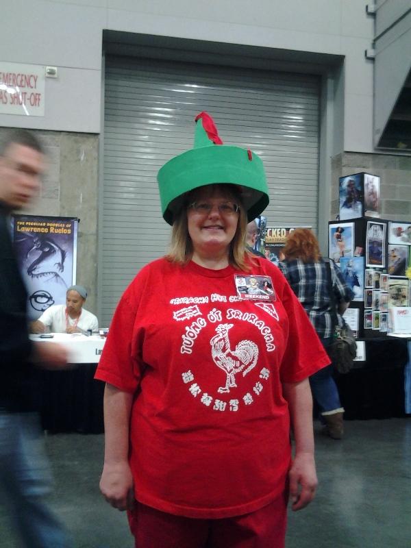 Sriracha cosplayer!