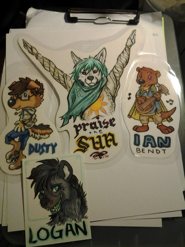 Finished badges from Saturday night.