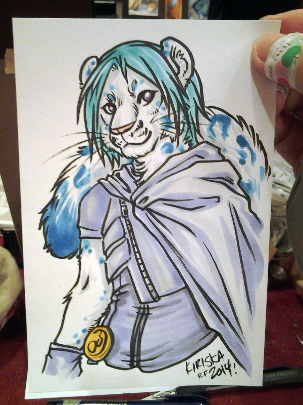 Color sketch card. One of very few Sunday commissions.