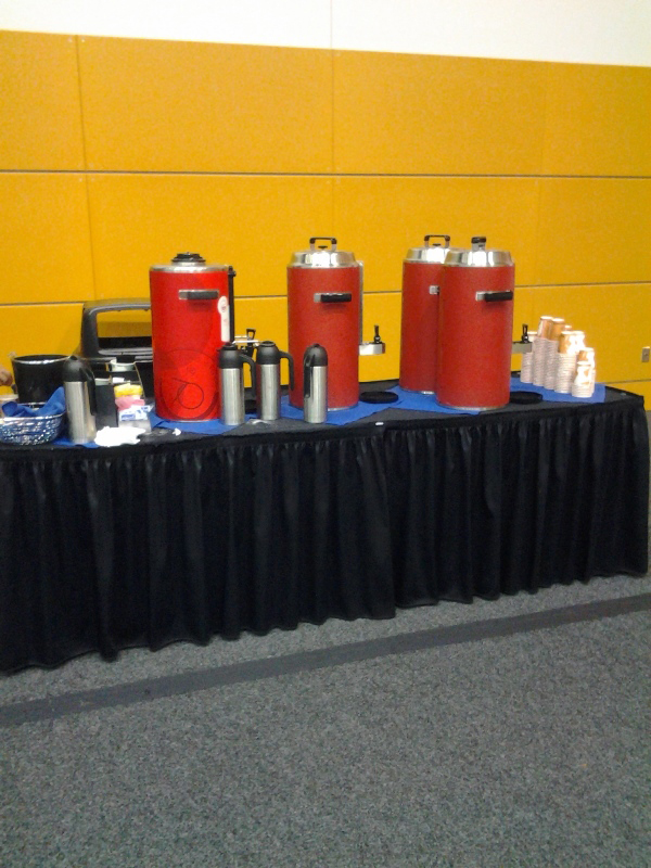They provided vendors free coffee during setup!