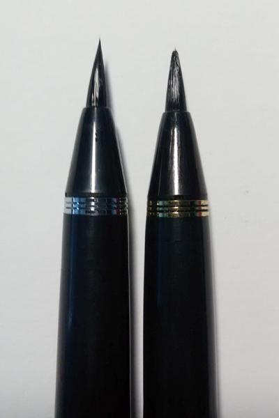 Kuretake #8 (left) VS Kuretake #13 (right).