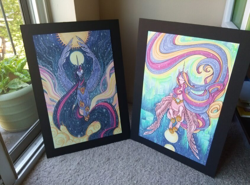 The two pieces I had in the Charity Auction. I hope they're in a good home, whatever they went for.