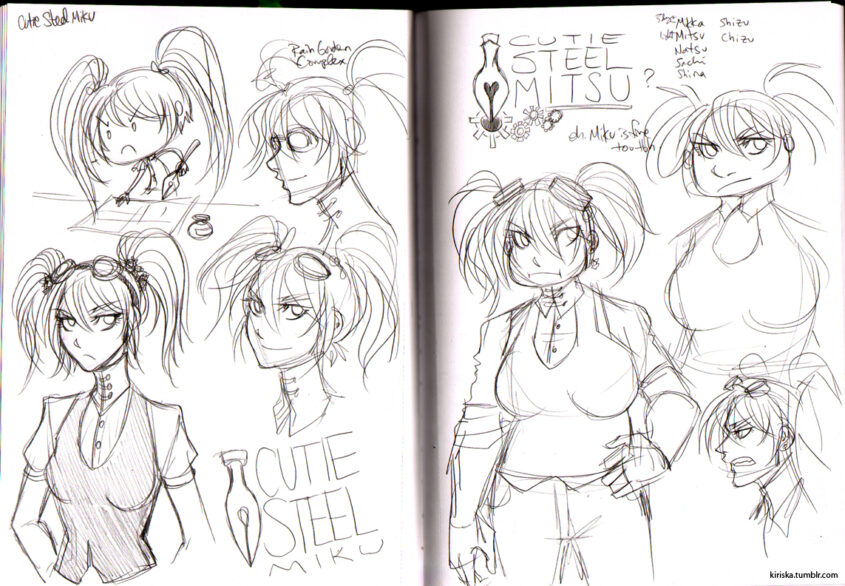 Immediate, post-game concept sketches.