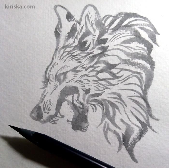 Akashiya Sai watercolor