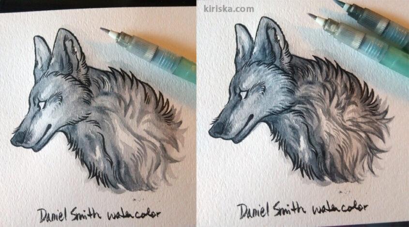 Daniel Smith watercolor paint on 140 lb/300 gsm.
