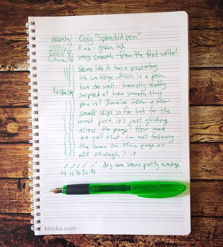 Ooly Splendid pen initial impressions