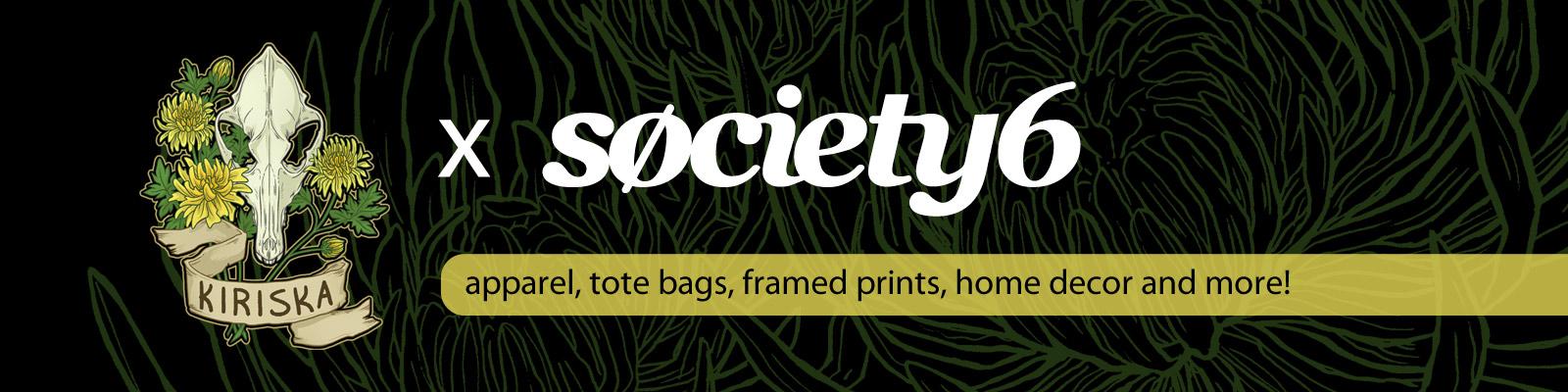 Print on demand via SOCIETY6