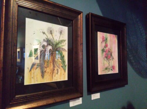 Some of my originals at the Leary Traveller