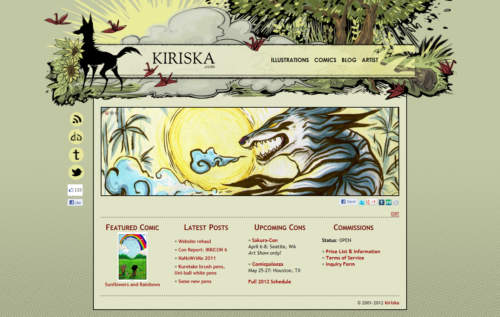The 2012 version of my website