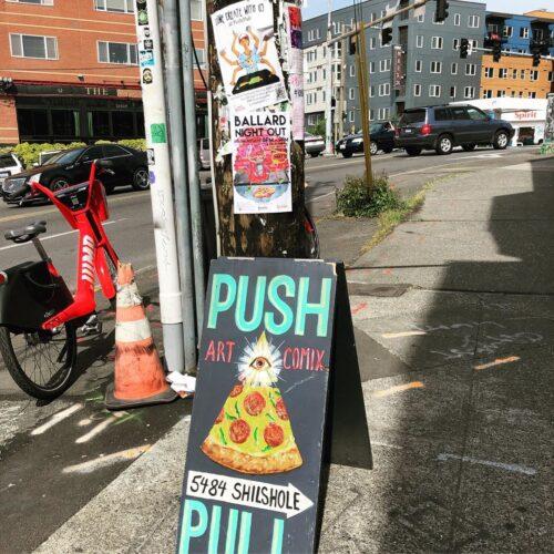Push/Pull sign in Ballard!