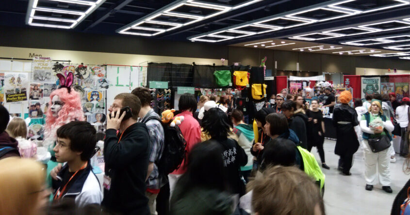 Crowds at Sakura-Con 2016s Artist Alley