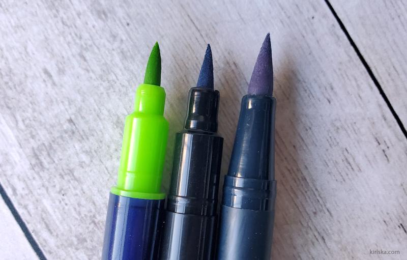 Daiso Graphoo VS Color Brush VS Tombow Dual Brush