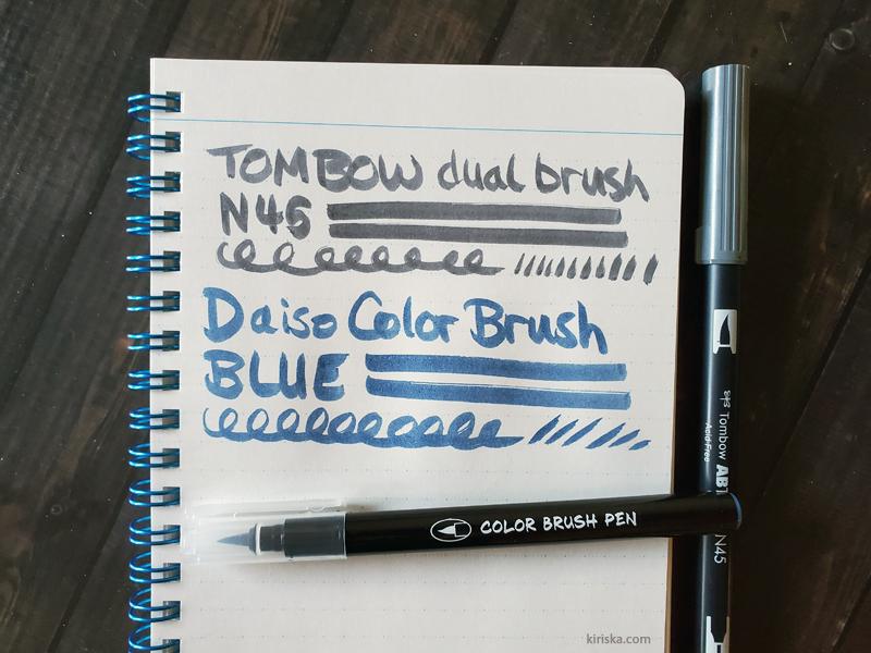 Daiso Color Brush vs Tombow Dual Brush