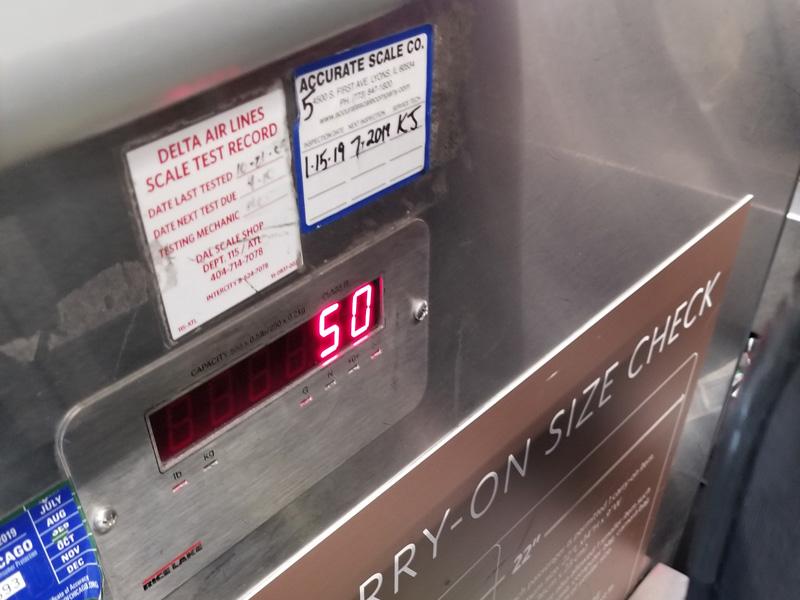 Luggage weight flex
