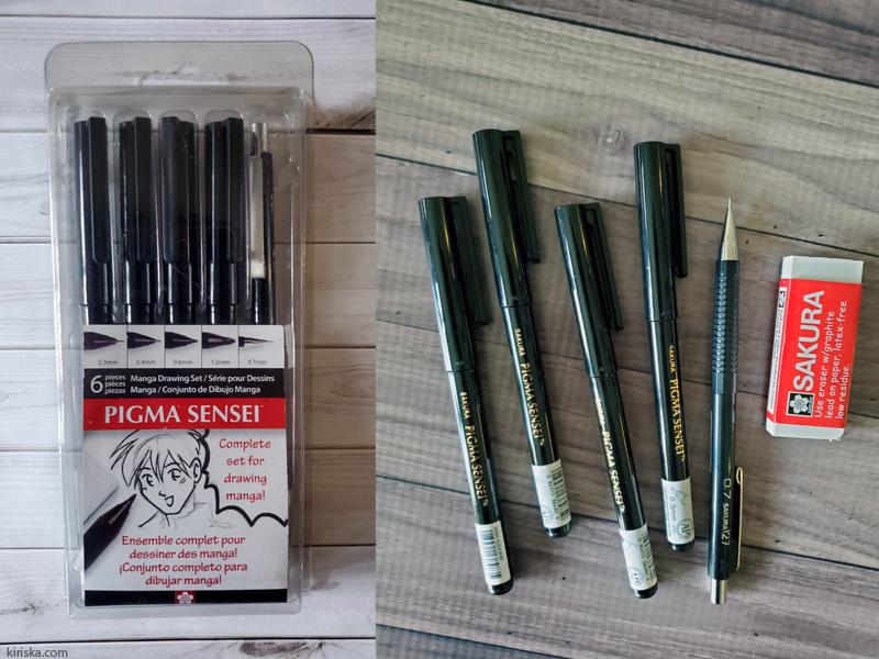 Sakura Pigma Sensei 6-piece set