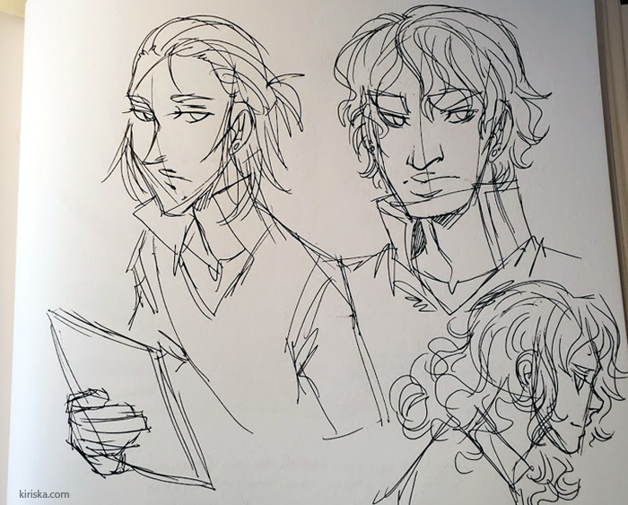 Pen sketches of OCs
