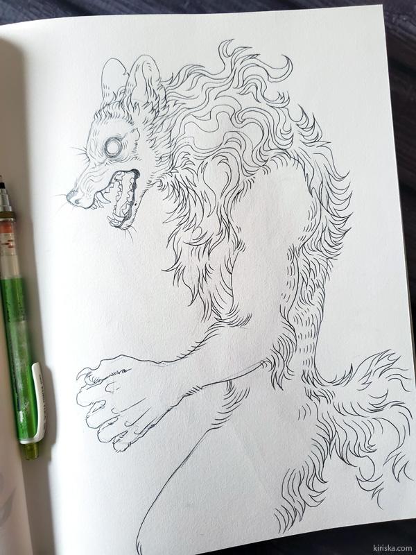 Pencil sketch in Artist's Loft sketchbook