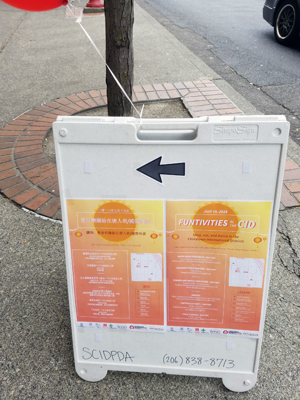 Sandwich board promotion