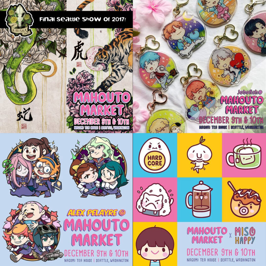 Various artist promos for Mahouto Market 2017