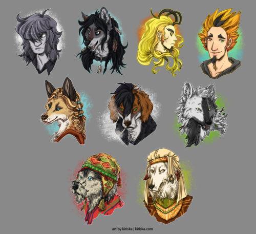 Batch of avatar commissions