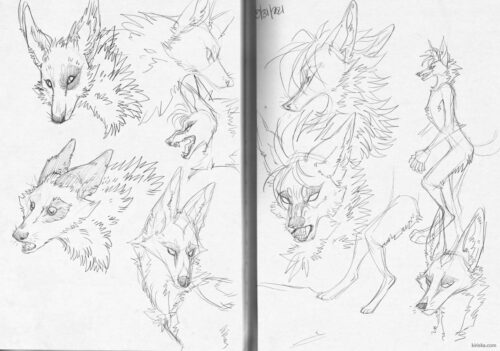 Pencil sketches of some RP OCs