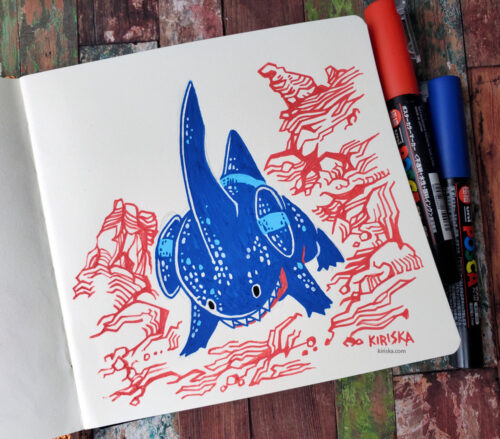 Gible in Posca