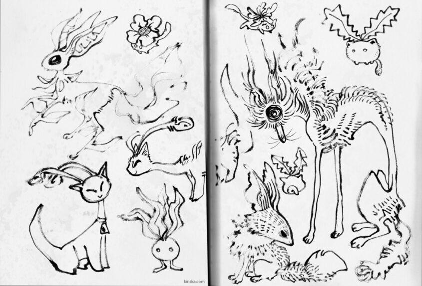 Space-filler doodles