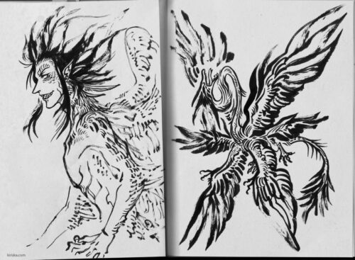 Ink sketches of monsterssss