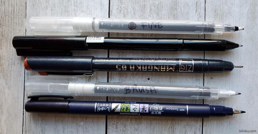 Kuretake Karappo and similar pens