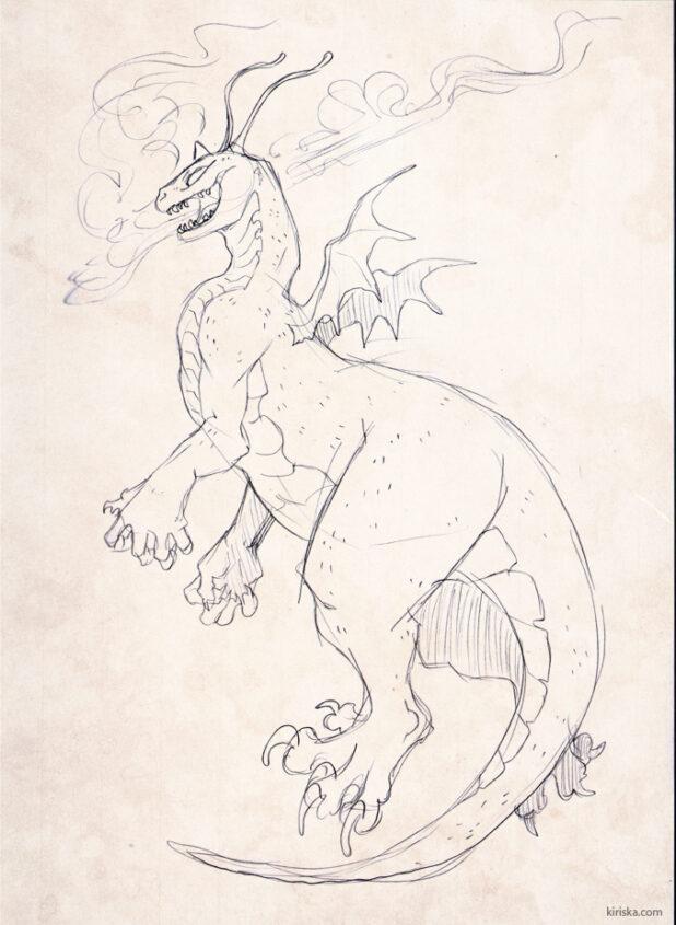 Dragonite sketch
